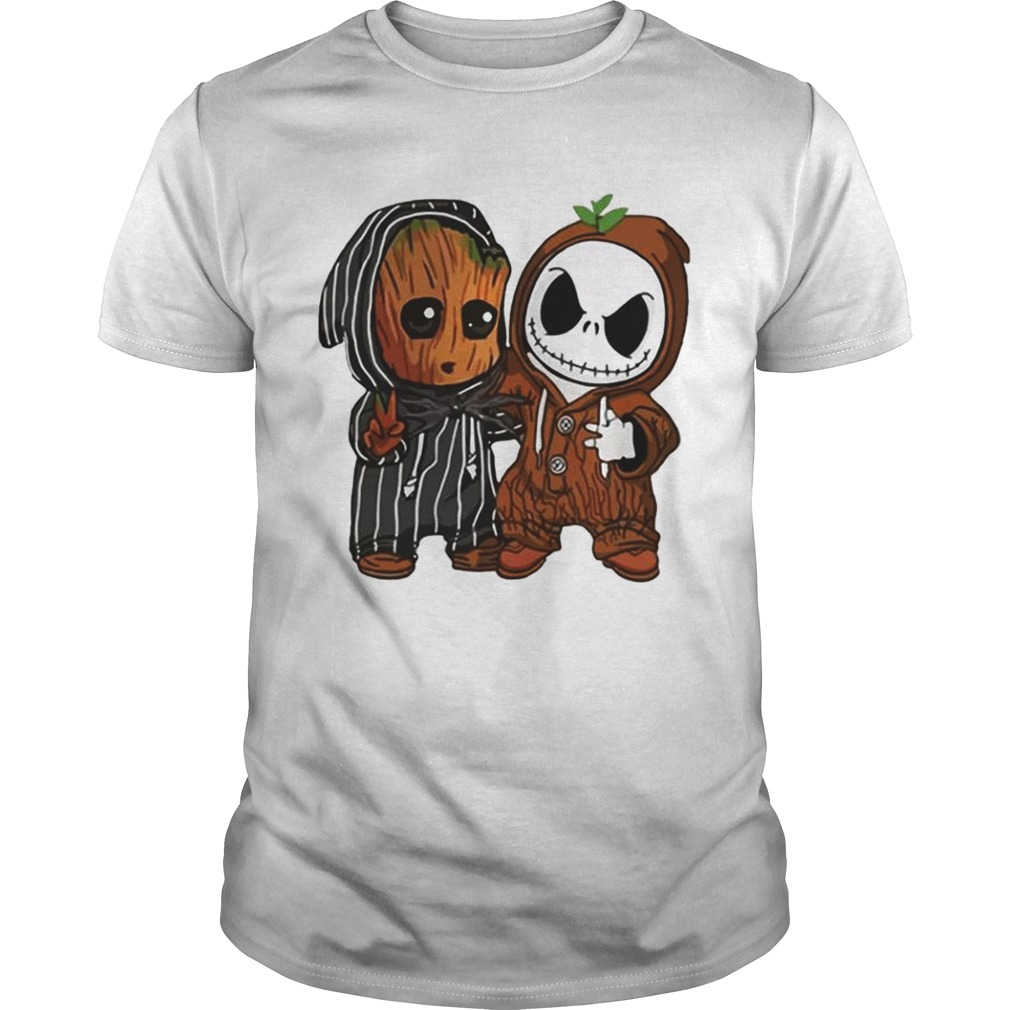 Baby Groot and Baby Jack Skellington shirt