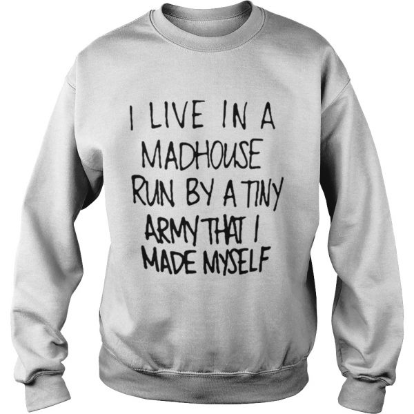 I live in a madhouse run by a tiny army that I made myself sweater