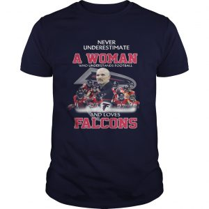 Never Underestimate a Woman Who Understands Football And Loves Falcons Guys Tee