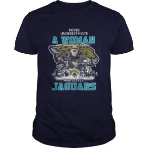 Never Underestimate a Woman Who Understands Football And Loves Jaguars Guys Tee