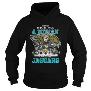 Never Underestimate a Woman Who Understands Football And Loves Jaguars Hoodie