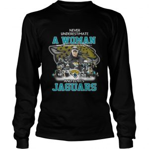 Never Underestimate a Woman Who Understands Football And Loves Jaguars Longsleeve Tee