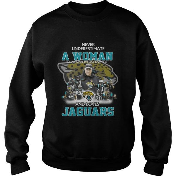 Never Underestimate a Woman Who Understands Football And Loves Jaguars Sweater