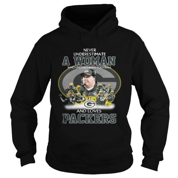 Never Underestimate a Woman Who Understands Football And Loves Packers Hoodie