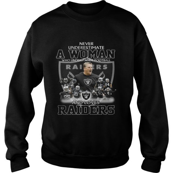 Never Underestimate a Woman Who Understands Football And Loves Raiders Sweater