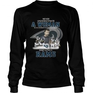 Never Underestimate a Woman Who Understands Football And Loves Rams Longsleeve Tee