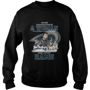 Never Underestimate a Woman Who Understands Football And Loves Rams Sweater