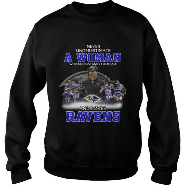 Never Underestimate a Woman Who Understands Football And Loves Ravens Sweater
