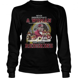 Never Underestimate a Woman Who Understands Football And Loves Redskins Longsleeve Tee