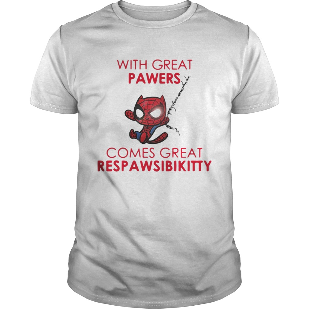 Spider Cat With Great Powers Comes Great Respawsibikitty Shirt
