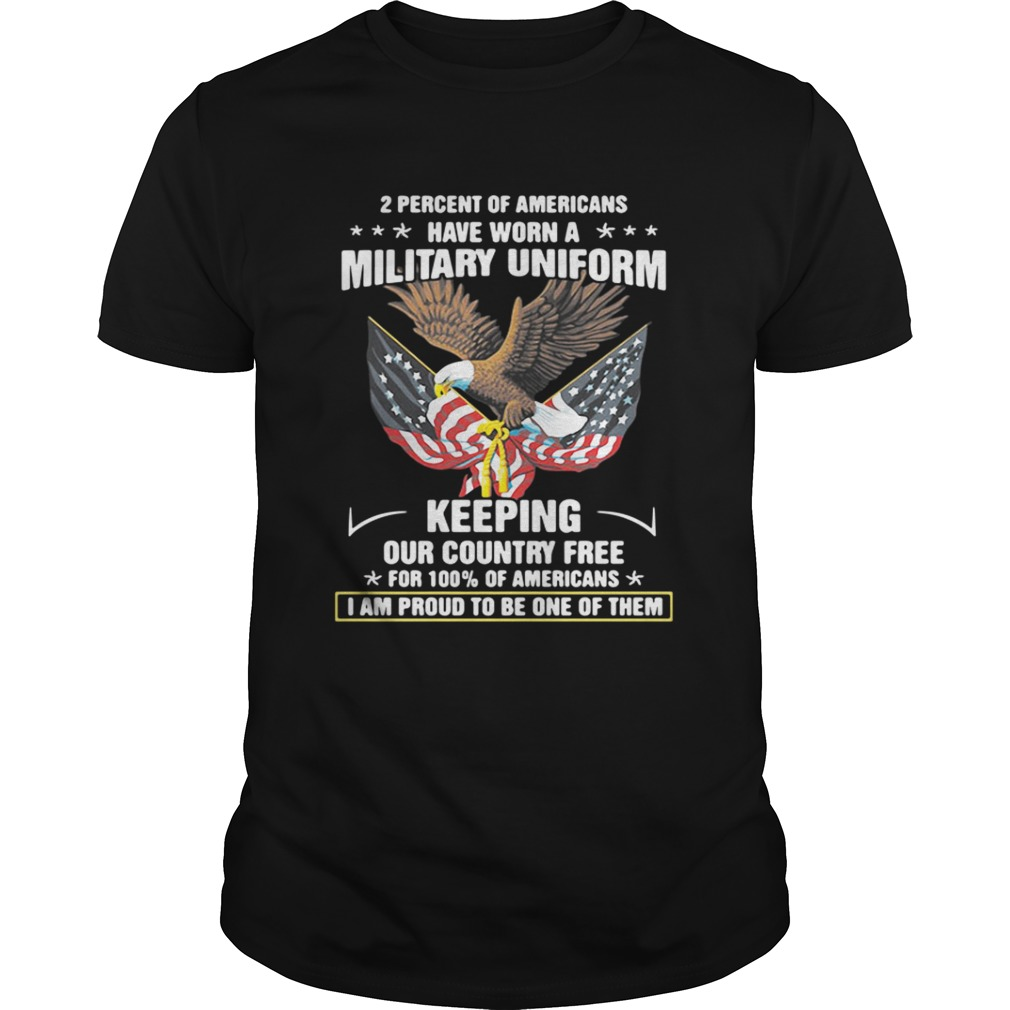 United States Department of Veterans Affairs 2 percent of Americans shirt