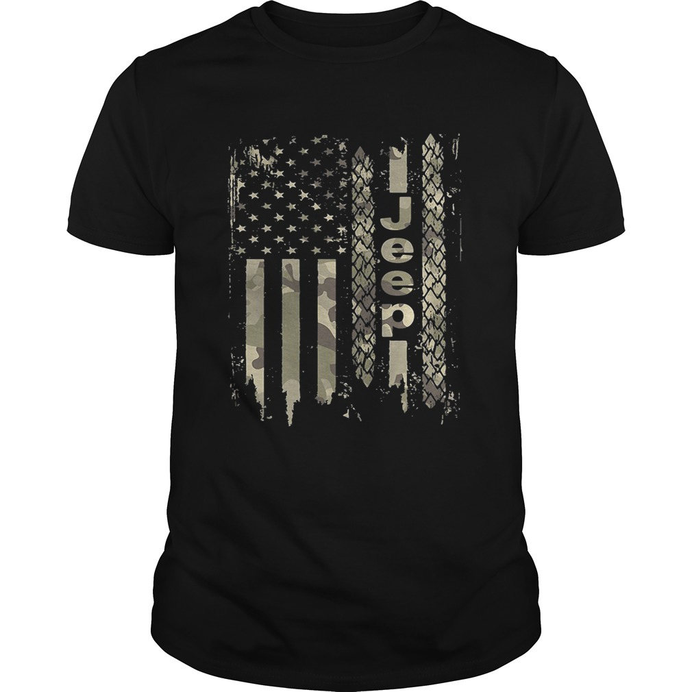 American flag camo jeep shirt