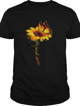 Butterfly sunflower never give up raise multiple sclerosis awareness shirts