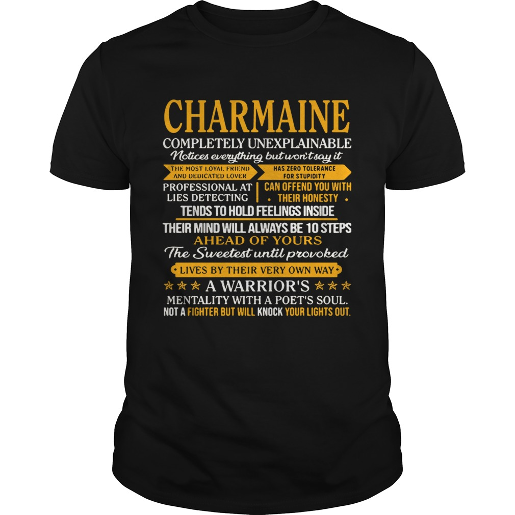 Charmaine completely unexplainable notices everything but won't say shirt