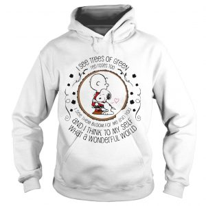 Louis Armstrong What A Wonderful World Snoopy Peanut Gift hoodie