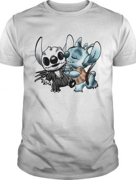 Stitch and Angel Jack Skellington The Nightmare Before Christmas shirts