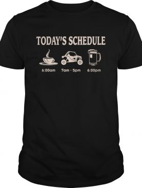 Today's schedule coffee car and beer shirt