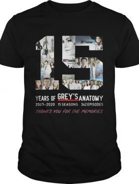 15 Years Of Grey's Anatomy Thank You For The Memories shirts