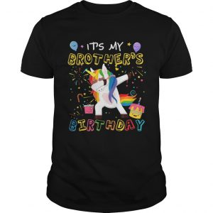 1554188875Awesome It's My Brother's Birthday Funny Kid unisex