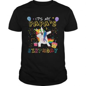 1554195311Awesome It's My Papa's Birthday Funny Kid unisex
