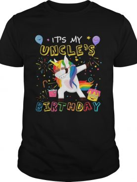 Awesome It's My Uncle's Birthday Funny Kid T-Shirts