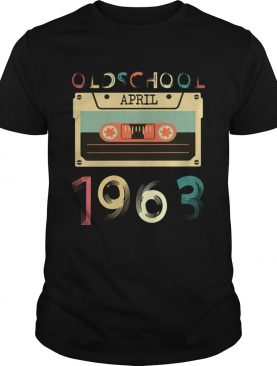Vintage Cassette tape Oldschool April 1963 Birthday T-shirts