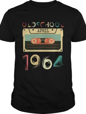 Vintage Cassette tape Oldschool April 1964 Birthday T-shirts