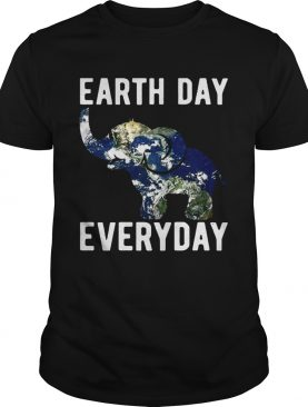 Earth Day Every Day Elephant Earth Symbol Earth Day T-shirts