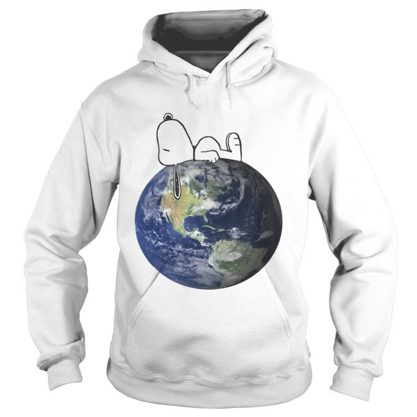 Earth Day snoopy sleep on Earth hoodie