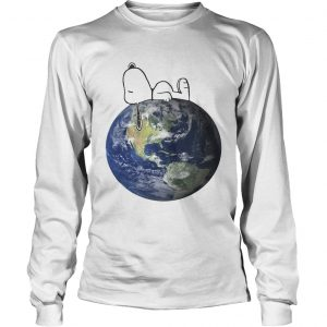 Earth Day snoopy sleep on Earth longsleeve tee