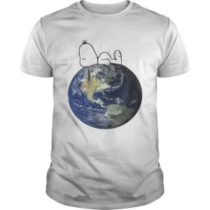 Earth Day snoopy sleep on Earth unisex
