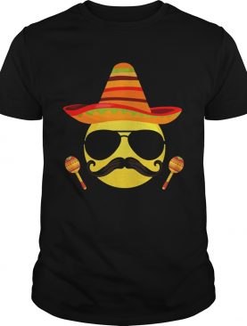 Emoji sombrero cool sunglasses cinco de mayo t-shirts