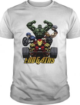 Gym Hulk Captain America Thor Iron Man Endgains shirts