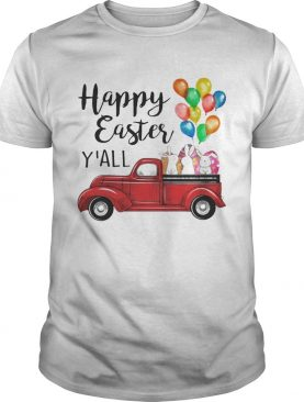 Happy Easter Y'all Bunny In Truck Easter Men Women T-shirts