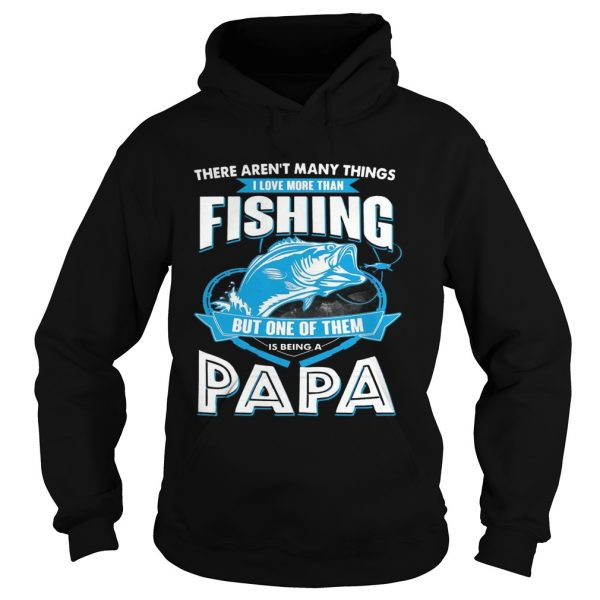 I Love More Than Fishing But One Of Them Is Being A Papa hoodie