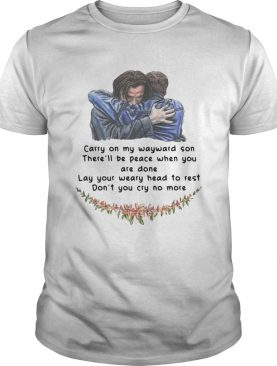 Jared Padalecki carry on my wayward son there'll be peace when you are done shirts