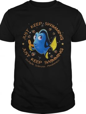 Just keep swimming multiple sclerosis awareness shirts