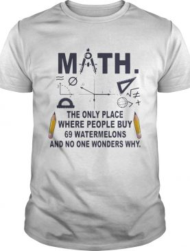 Math The Only Place where People Buy T-shirts