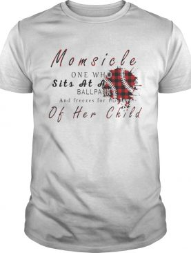 Momsicle One Who Sits As A Ballpark And Freezes For The Love Of Her Child Softball Plaid Version – T-shirtss