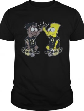 New Orleans Saints Michael Thomas Simpsons Dynamic Duo Shirts
