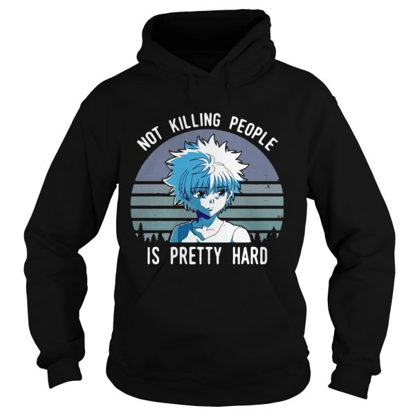 Not killing people is pretty hard vintage hoodie