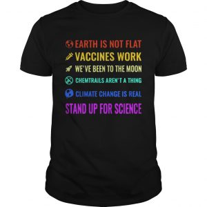 Official LGBT Earth is not flat vaccines work we ve been to the moon unisex