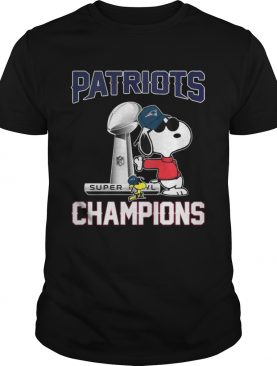 Snoopy and Woodstock Patriots Super champions shirts