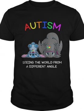 Stitch and Toothless Autism seeing the world from a different angle shirts