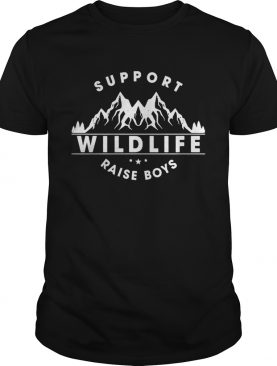 Support wildlife raise boys shirts