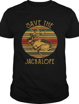Vintage Save The Jackalope Funny Rabbit With Horn T-shirts