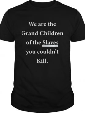 We Are The Grandchildren Of The Slaves You Couldn't Kill Shirts