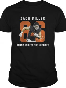 Zach Miller thank you for the memories shirts