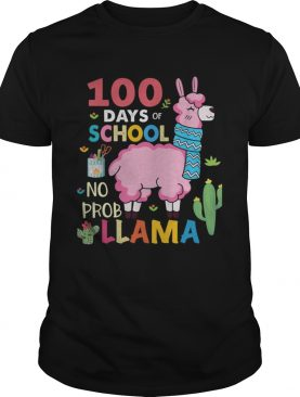 100 Days of school no probllama shirts