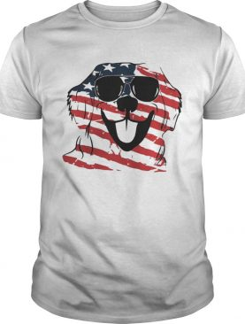 4th Of July Golden Retriever American Flag Shirts
